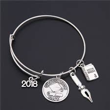 silver bracelet gift images Bracelet custom class of 2018 graduation hat silver gift choose jpg