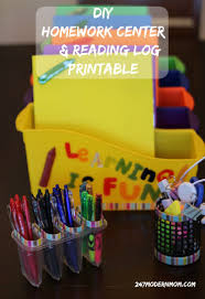 erase stress with this diy homework station reading log