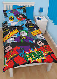 Lego Bedding Set Lego Dynamic Batman Robin Joker Reversible Single Duvet Cover