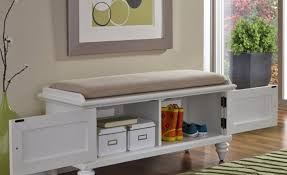 Bench With Shoe Cubby Bench Memorable Black Storage Bench With Wicker Baskets Likable