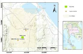 map of hat yai topographic map of hat yai basin songkhla province thailand