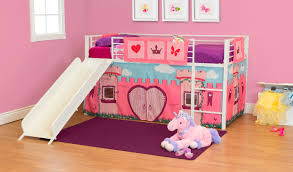 Curtains For Bunk Bed Essential Home Sleep And Slide Loft Curtain Princess Fairytale