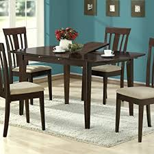 Amazoncom Monarch Specialties Dining Table With Inch - Dining room table with butterfly leaf