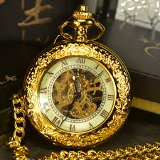 watch chain necklace images Tiedan steampunk skeleton mechanical pocket watches men antique jpg