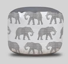 elephant safari animal round pouf ottoman project cottage