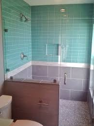 beveled subway tiles in bathroom tile designs image of blue glass