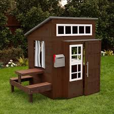 Kidkraft Outdoor Picnic Table by Kidkraft Modern Outdoor Playhouse Espresso