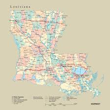louisiana maps with cities tackamap louisiana state wall map cut out style from