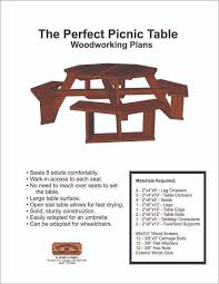 diy build round picnic table plans wooden pdf how to build an out