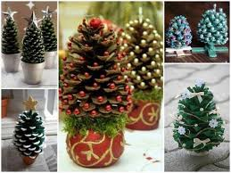 pine cone decoration ideas how to make pine cone christmas trees how to