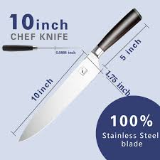 imarku 10 inch pro chef u0027s knife high carbon german steel cook u0027s