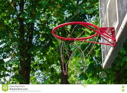 basketball hoop in the park stock photo image 72247500