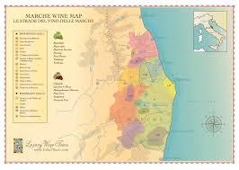 Italy Wine Regions Map Marche Wine Regions Map Cellartours