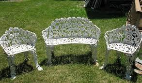 white cast aluminum patio furniture home design ideas