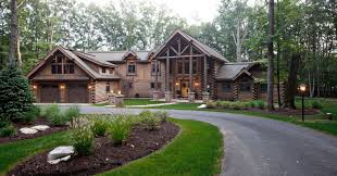 luxury mountain log home plans showcase of completed homes model