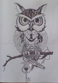 drawings of owls tattoos