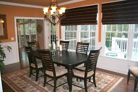 Creating Dining Room Window Treatments Dining Room Bay Window Treatment Ideas Modern Curtain Country