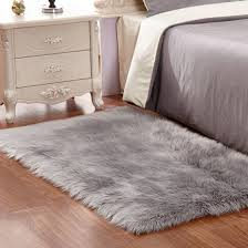 Sheepskin Area Rugs Fabricmcc Faux Sheepskin Area Rug Silky Shag Rug Fluffy Carpet