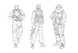 W I P Concept Sketches Call Of Duty Black Ops Coloring Pages