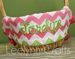 personalized easter basket liners easter basket liner etsy