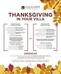 dine in or out with casa de co s thanksgiving specials