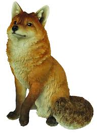 arts xrl sfox a large sitting fox resin ornament co
