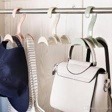 hanging closet organizer hooks hanger holder for purses handbags