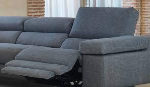canapé relax 3 places tissu canapé d angle en tissu avec dossier électrique réglable