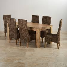natural wood kitchen table and chairs best mantis light dining set in natural mango dining table 6 chairs