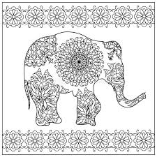 elephant zentangle coloring stock illustration image 61288273