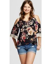 cold shoulder tops shopping sales on women s cold shoulder top floral xs