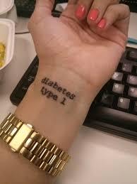 i got a diabetes tattoo yesterday diabetes
