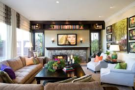 Charming Great Room Designs Family Design Ideas With Fireplace And - Family room design with tv