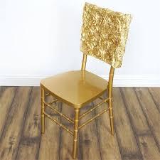 champagne grandiose rosette chivari square top chair caps for