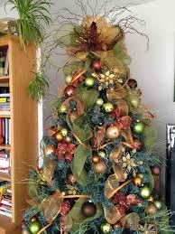 Christmas Tree Ribbon Decorating How To Decorate Christmas Tree With Mesh Best Template Collection