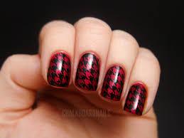 houndstooth stamping chalkboard nails nail art blog