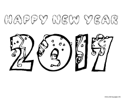 new year coloring pages free download printable