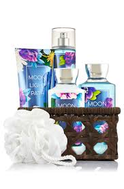 bathroom gift basket ideas moonlight path basket of favorites gift kit signature collection