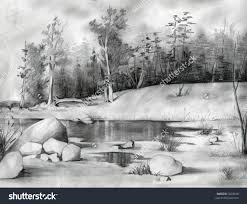 pencil sketch nature image beautiful sketches of nature drawings
