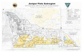 Rubicon Trail Map Blm Juniper Flats Subregion 4x4 U0026 Ohv Access Maps And Info