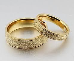 wedding ring in dubai the new titanium steel plated 18k gold wedding rings