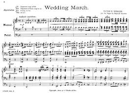 wedding march wedding march by victor e nessler transcribed by reginald
