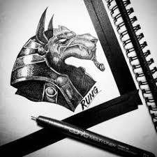 Anubis Tattoo Ideas How To Draw A Tribal Anubis Tattoo Step 5 Drawings Pinterest