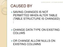 Alter Table Change Data Type Sql Server How To Solve Saving Changes Is Not Permitted On Sql Server