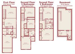 three bedroom townhouse floor plans eagle s crest townhomes townhomes in south kansas city 2 3