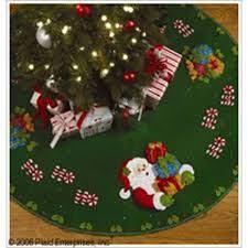 bucilla cookies 44 felt tree skirt kit 86149 santa