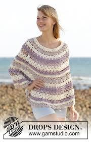 drops design poncho newport drops 0 1309 free crochet patterns by drops design