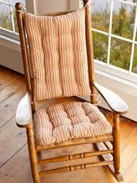 Atwoods Outdoor Furniture - atwood plaid rocking chair cushions latex foam fill reversible