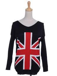 British Flag Shirts Anna Kaci S M Fit Long Sleeve Union Jack British Flag Symbol