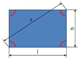 rechteck fläche berechnen rechteck umfang diagonale flächeninhalt am rechteck berechnen